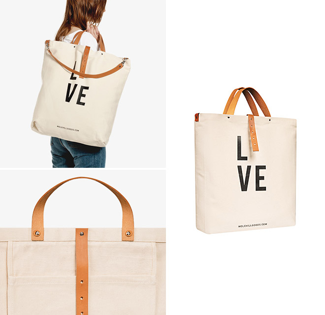 The LVE Bag - Molehill Goods, curated by MONOQI